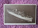 B/W POSTCARD OF THE ORIENT LINE VESSEL THE RMS ORION