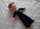 AS NEW SAILOR DOLL SOUVENIR FROM THE ORIENT LINE VESSEL THE SS ORSOVA