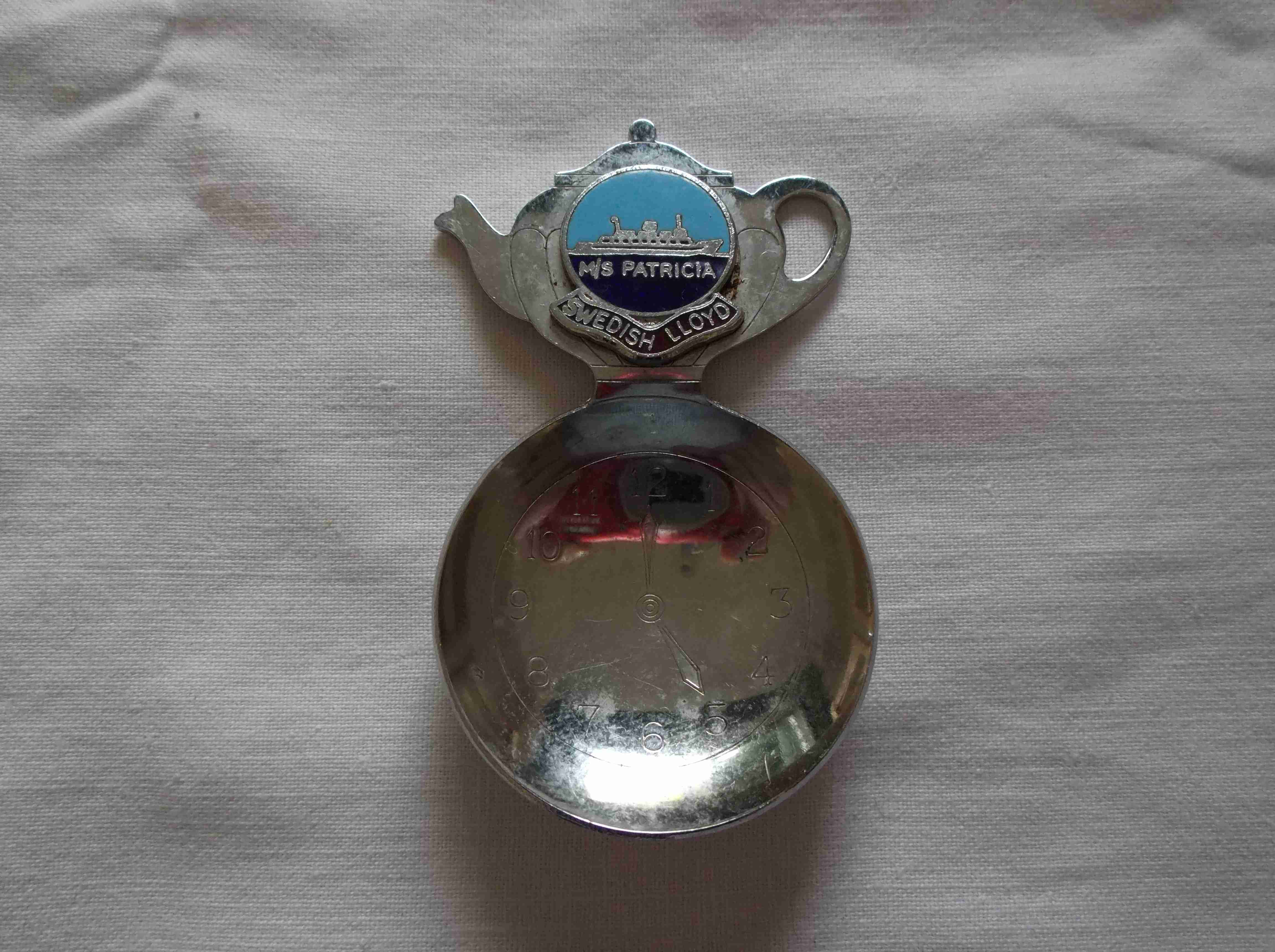 SOUVENIR TEA CADDY SPOON FROM THE SWEDISH LLOYD VESSEL THE M/S PATRICIA
