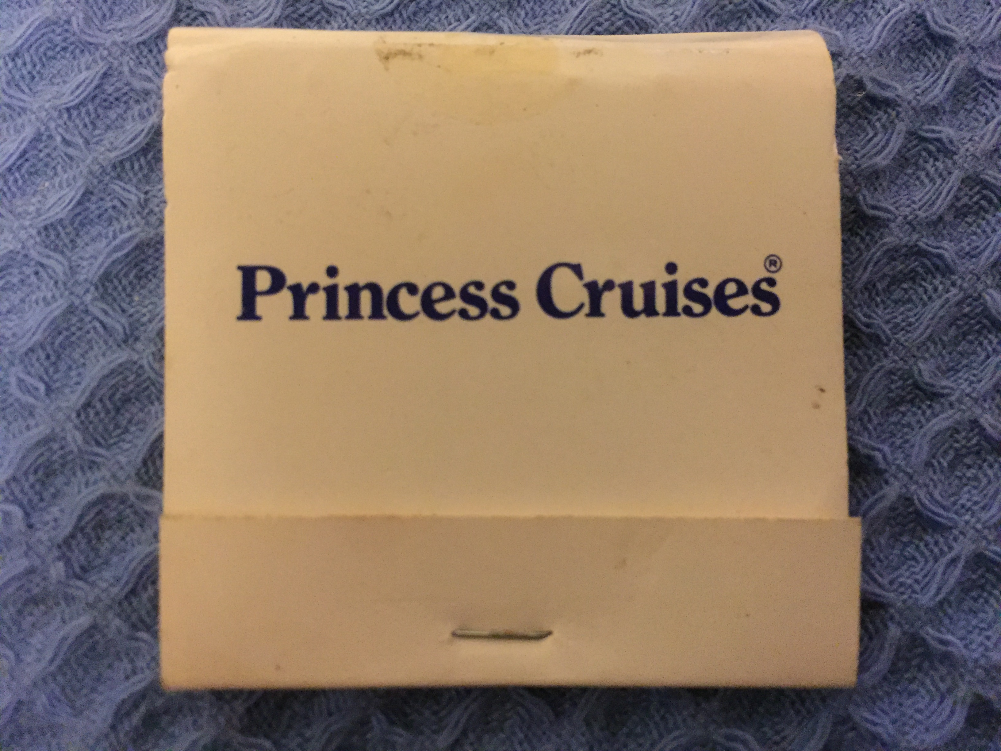 UNUSED FLAT PACK BOX OF MATCHES FROM THE PRINCESS CRUISES LINE