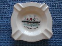 AN EARLY RARE BONE CHINA DISH FROM THE RMS QUEEN ELIZABETH