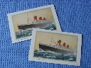 PAIR OF ABSTRACT OF LOG CARDS FROM THE RMS QUEEN MARY DATED 1962