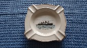 VERY RARE EARLY SOUVENIR RMS QUEEN MARY CHINA ASHTRAY FROM THE 1950's