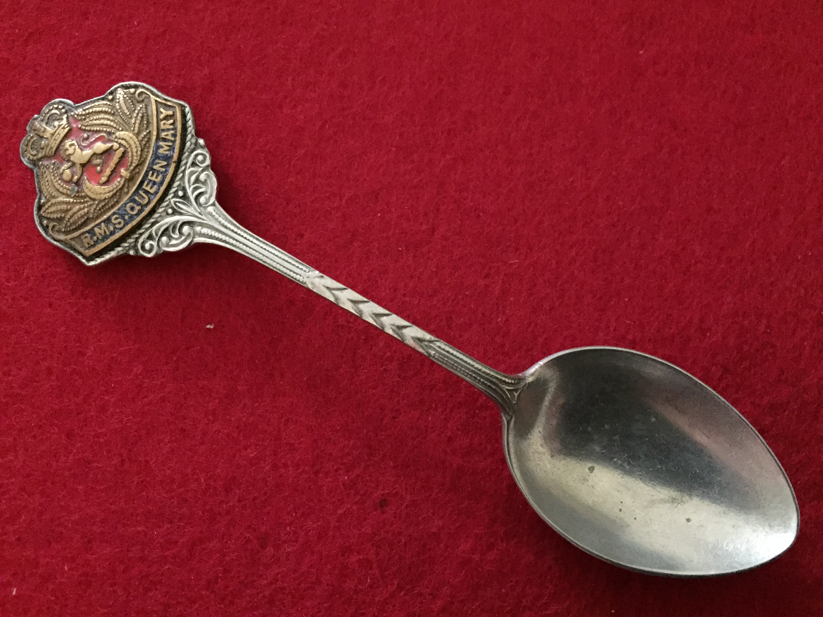SOUVENIR SPOON FROM THE FAMOUS OLD VESSEL THE RMS QUEEN MARY