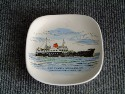DECORATIVE PIN DISH FROM THE RED FUNNEL STEAMERS LTD.
