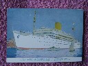 ORIGINAL COLOUR POSTCARD/PICTURE OF THE ROYAL MAIL LINES VESSEL THE RMS ANDES