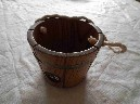 WOODEN BUCKET SOUVENIR FROM THE SHAW SAVILL LINE VESSEL THE SOUTHERN CROSS