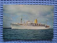 UNUSED POSTCARD FROM THE P&O LINER THE SS IBERIA