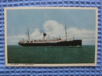 POSTCARD FROM THE SS SUECIA/SS BRITANNIA VINTAGE PASSENGER SHIP