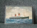 POSTCARD OF THE FRENCH LINE VESSEL THE SS ILE DE FRANCE