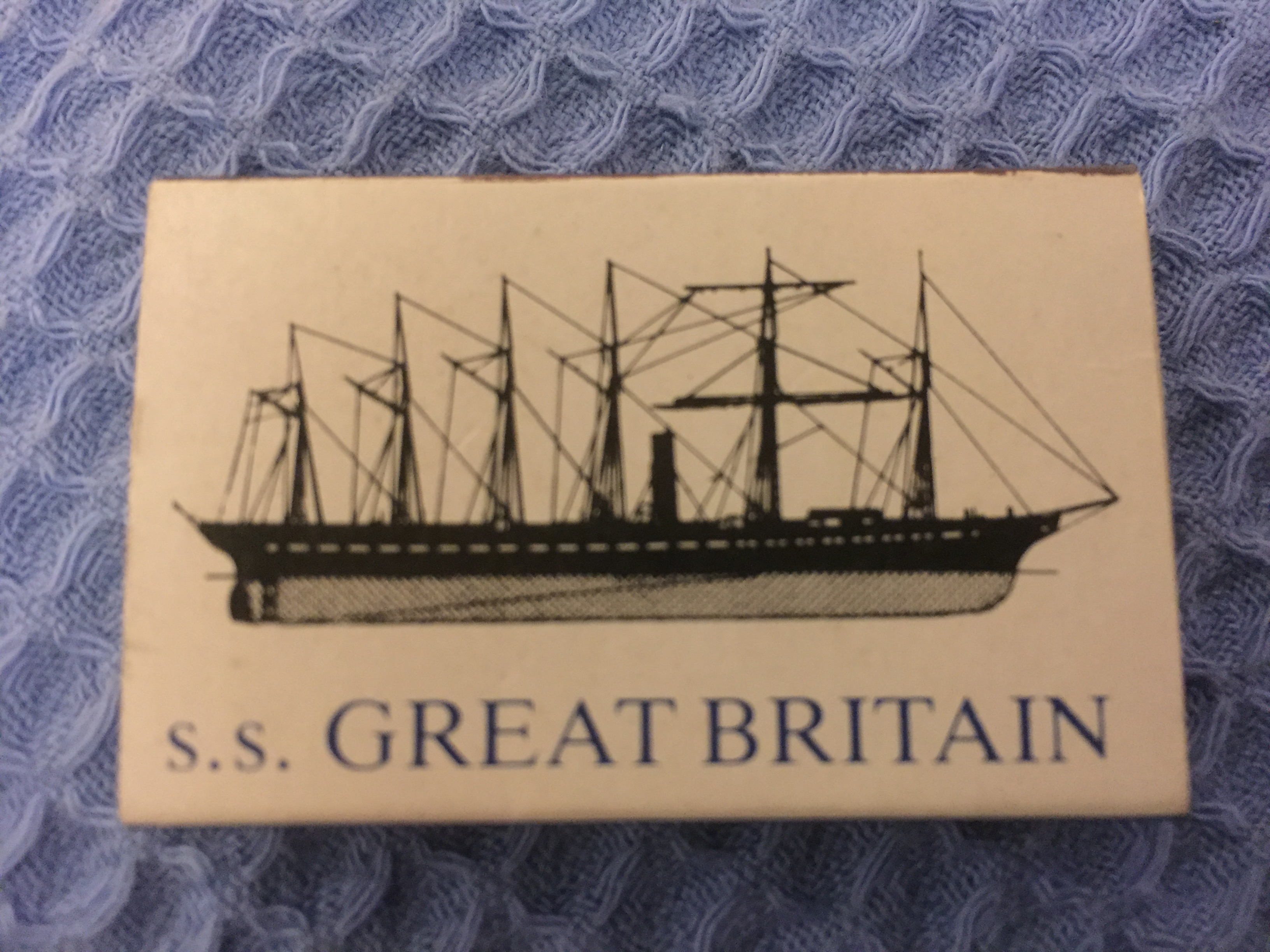 UNUSED SOUVENIR BOX OF MATCHES FROM THE VESSEL THE SS GREAT BRITAIN