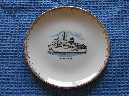 BRITISH INDIA LINE SOUVENIR SHIPS PLATE SHOWING THE VESSEL SS UGANDA