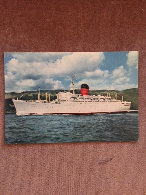 UNUSED COLOUR POSTCARD FROM THE OLD CUNARD LINE VESSEL THE SYLVANIA