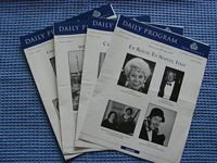 SET OF 4 DAILY CRUISE ACTIVITY PROGRAMS FROM THE QE2 DATED 1997
