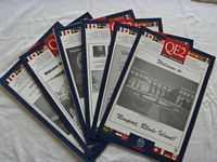 SET OF 6 DAILY CRUISE ACTIVITY PROGRAMS FROM THE QE2 DATED 1993