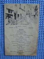 MENU CARD FROM THE SS ADRIATIC DATED SEPTEMBER 1ST 1934