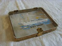 ROYAL MAIL LINE CIGARETTE CASE SOUVENIR FROM THE VESSEL THE RMS ANDES