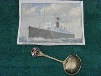 SOUVENIR SILVER SPOON FROM THE SS ATHENIA