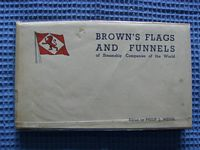 OLD 1958 EDITION OF THE BROWN'S FLAGS AND FUNNELS BOOK