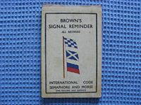 VERY OLD FLIP OVER BROWN'S SIGNAL REMINDER BOOK FROM THE 1930's