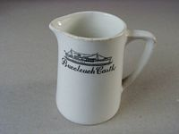 SOUVENIR MILK JUG FROM THE OLD SHIPPING VESSEL THE BUCCLEUCH CASTLE.