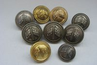 COLLECTION OF MIXED COLOURED BUTTONS FROM THE NEW ZEALAND STEAMSHIP COMPANY CIRCA 1940's