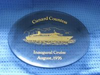 GLASS DISH FROM THE VESSEL THE CUNARD COUNTESS DATED 1976