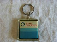 EARLY EXAMPLE DFDS SEAWAYS KEYRING SOUVENIR