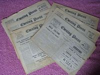 SELECTION OF WW2 CHANNEL ISLAND 'EVENING PRESS' NEWSPAPERS