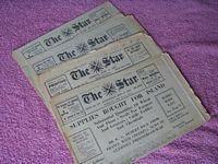 SELECTION OF WW2 CHANNEL ISLAND 'THE STAR' NEWSPAPERS