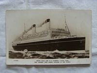 B/W RARE UNUSED POSTCARD OF THE WHITE STAR LINER THE HOMERIC
