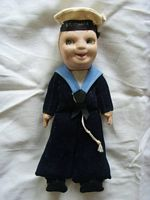 SAILOR DOLL SOUVENIR FROM THE VESSEL THE SS ITHACA
