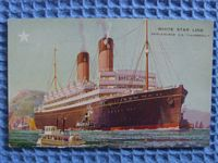 FULL COLOUR UNUSED POSTCARD OF THE WHITE STAR LINER THE SS LAURENTIC