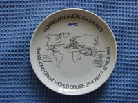 DECORATIVE DISPLAY PLATE FROM THE NORWEGIAN AMERICAN CRUISES COMPANY