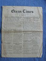 EDITION OF THE SHIP NEWSPAPER THE 'OCEAN TIMES' FROM THE SS ADRIATIC