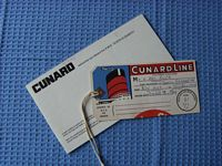 WELCOME ABOARD BOOKLET AND USED LUGGAGE LABEL FROM THE RMS QUEEN ELIZABETH DATED 1960's