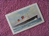 UNUSED COLOUR LETTER CARD FROM THE RMS QUEEN ELIZABETH
