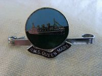 EARLY LAPEL PIN SOUVENIR FROM THE LINER RMS QUEEN MARY