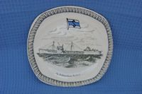 SOUVENIR CHINA PLATE FROM THE TANKER COMPANY A/S SCHANCHES REDERI