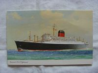 UNUSED COLOUR POSTCARD OF THE CUNARD LINE VESSEL THE RMS SYLVANIA