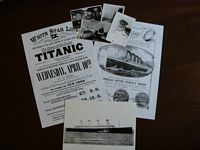 SET OF TITANIC ITEMS COPIES FROM THE ORIGINALS OF THE PERIOD