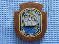 USA NAVAL WALL PLAQUE FROM THE VESSEL USS DETROIT