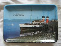 EARLY SOUVENIR DISH FROM THE PADDLE STEAMER THE WAVERLEY