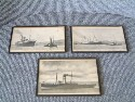 OLD SET OF 3 GLASS FRONTED PICTURES FROM A TOWING COMPANY