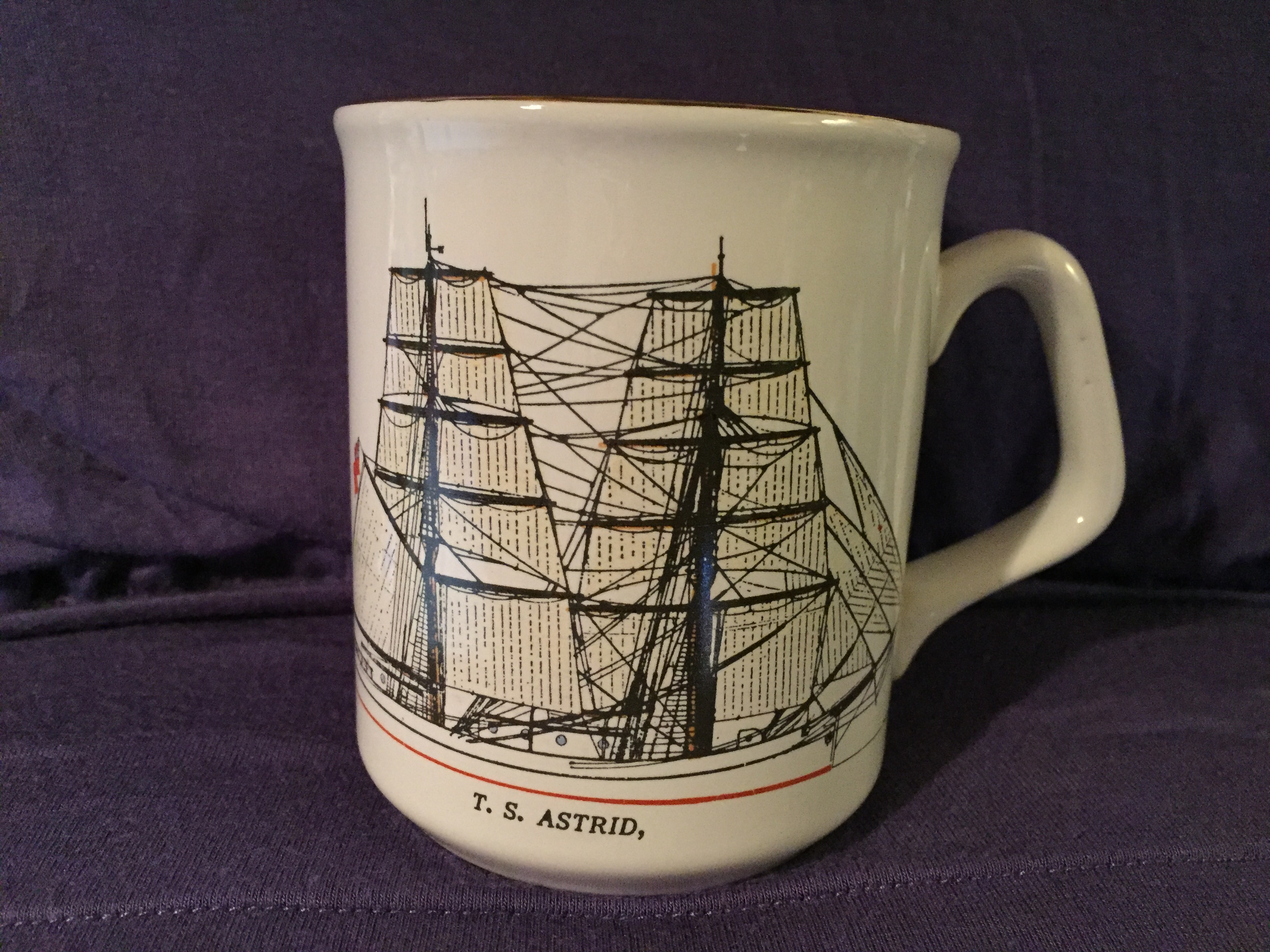SOUVENIR MUG FROM THE VESSEL THE TS ASTRID
