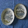 PAIR OF EARLY SOUVENIR DISHES FROM THE BRITISH INDIA STEAM NAVIGATION COMPANY