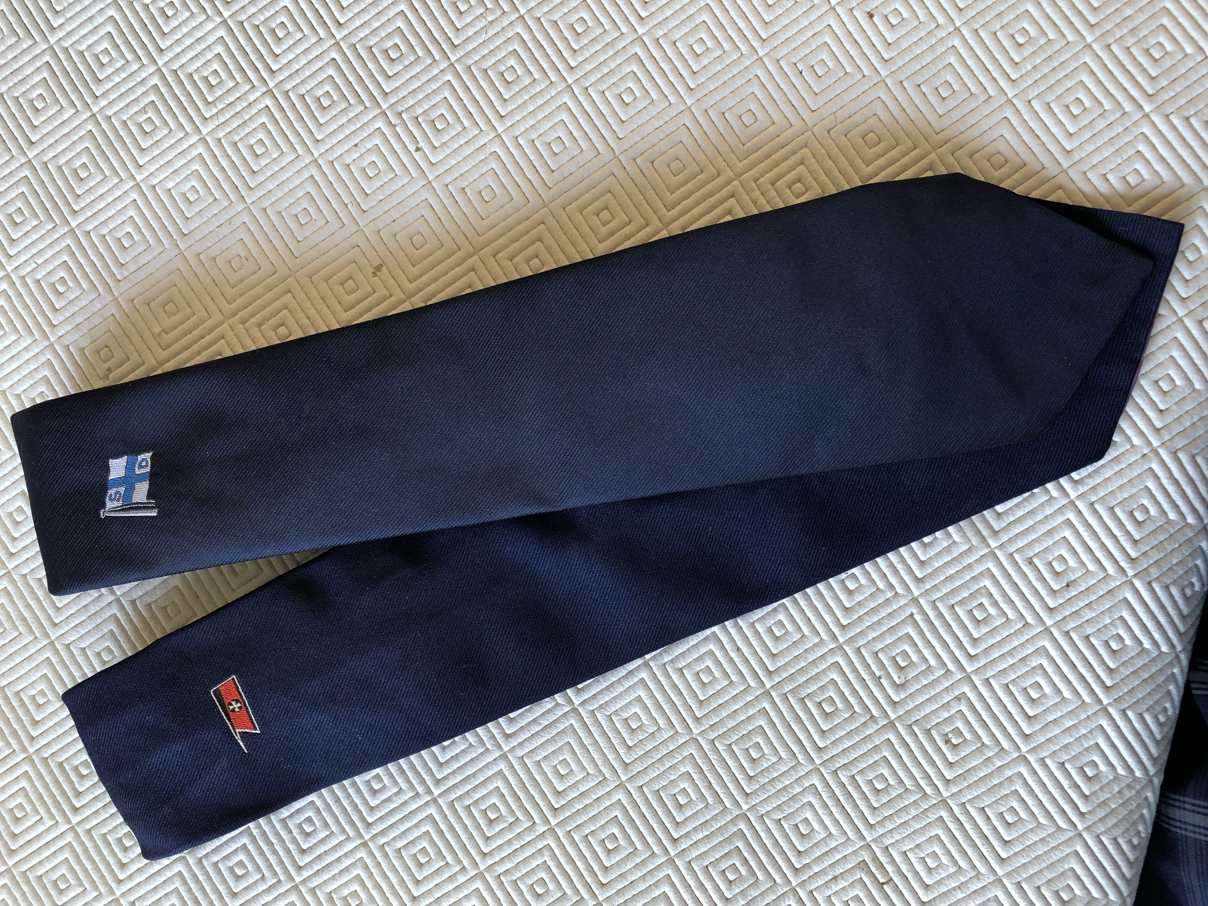 PAIR OF OLD SHIPPING COMPANY TIES FROM SCANDINAVIAN SHIPPING SOURCES