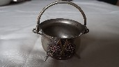 SILVER PLATED DINING TABLE SALT POT FROM THE UNION CASTLE LINE VESSEL THE WALMER CASTLE