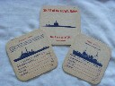 SET OF 3 OUT OF 24 BAR MATS SHOWING SHIPS OF THE ROYAL NAVY