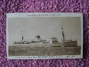 ORIGINAL B/W POSTCARD OF THE UNION-CASTLE LINE VESSEL THE WINCHESTER CASTLE